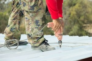 Drilling Metal Roof - Guardian Roofing